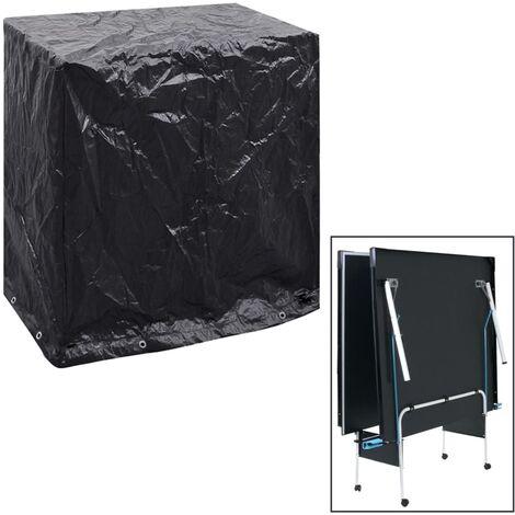 Funda muebles jardín y mesa de ping pong 8 ojales 160x55x182 cm - Negro