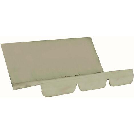 Funda para columpio, silla, impermeable, plegable, cojin, patio, jardin, patio, asiento al aire libre, reemplazo (beige)