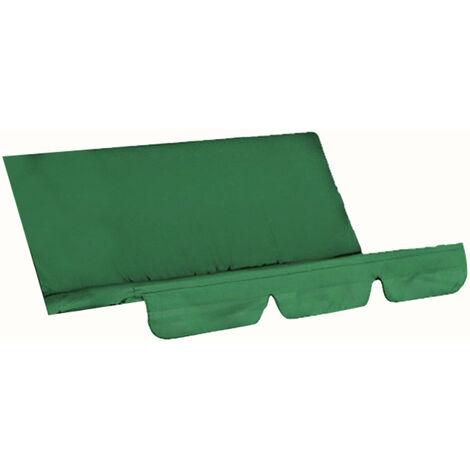 Funda para columpio, silla, impermeable, plegable, cojin, patio, jardin, patio, asiento al aire libre, repuesto (verde oscuro)
