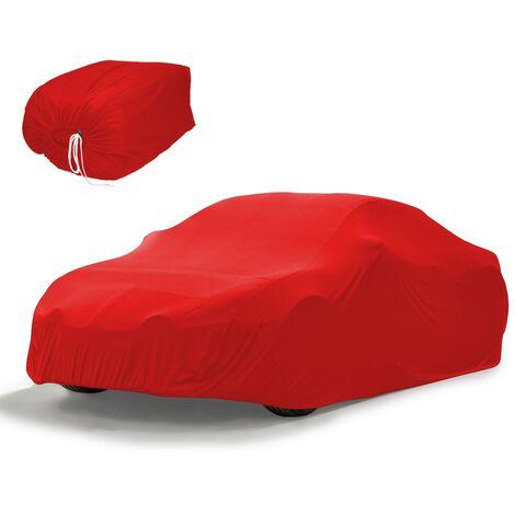 Funda protección coche auto 431 x 165 x 119 cm color rojo impermeable talla M