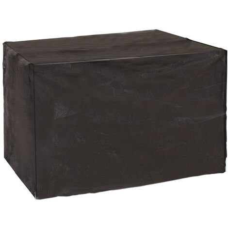 Funda protectora de PVC reforzado para balancín de jardín negra de 240x125x170cm