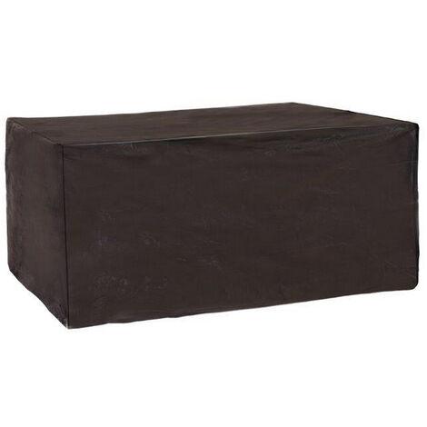 """main image of """"Funda protectora de PVC reforzado para sofá de 2 plazas de jardín negra de 185x95x80cm"""""""