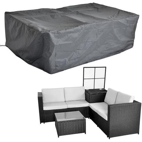 Funda protectora Funda de muebles de jardín funda de lona 185x185x70CM sofá cubierta protectora exterior patio jardín terraza lluvia sol