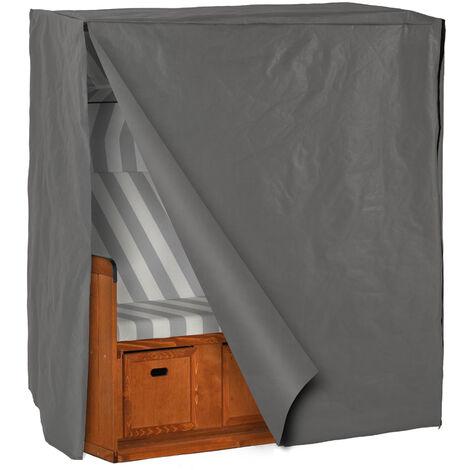 Funda protectora para tumbona de playa estilo nórdico - cubierta de protección para sillón de playa, cobertor impermeable para tumbona de costa nórdica, cobertura de tela resistente para silla de playa - gris