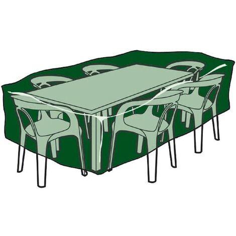 Funda rectangular cubre mesas y sillas de poliéster 225 x 143 x 90 cm