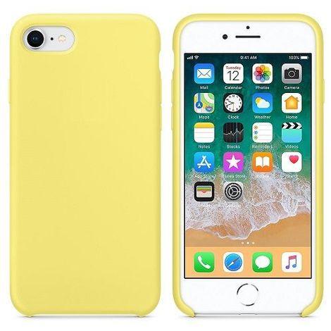 Funda silicona iPhone 7/8 textura suave Amarillo claro