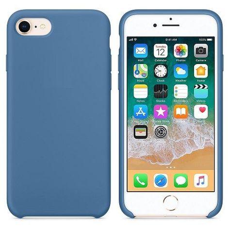 Funda silicona iPhone 7/8 textura suave Azul vaquero