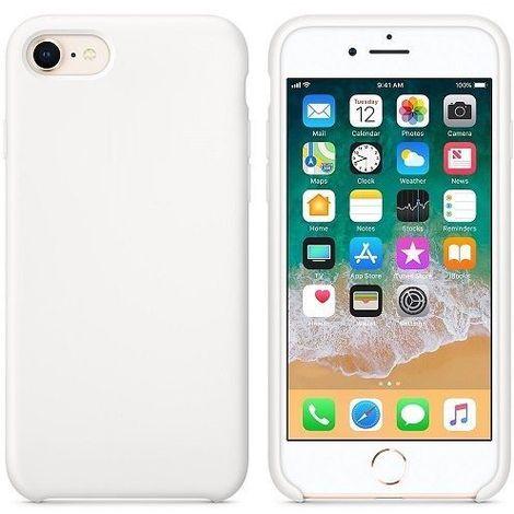 Funda silicona iPhone 7/8 textura suave Blanco