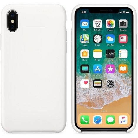 Funda silicona iPhone X/XS textura suave Blanco