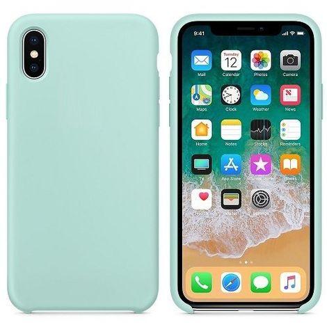 Funda silicona iphone XR textura suave Verde claro