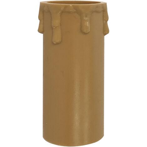 Funda vela beige con detalle de gotas 86mm. para portalámparas E27 (Solera 855C)