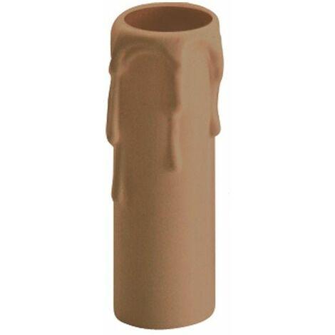 Funda vela embellecedora larga crema 854C para portalámparas E14