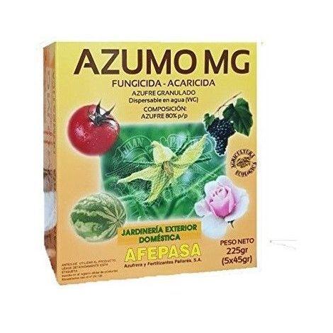 Fungicida acaricida AZUMO MG contra oidio, araña roja, ácaros y otros - 225g (5x45g)