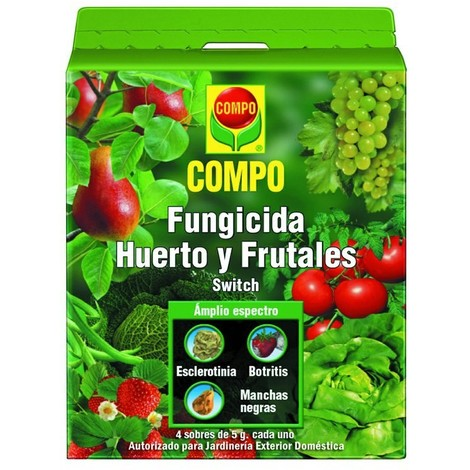 Fungicida Huerto Frutales Compo 5X4 Grs