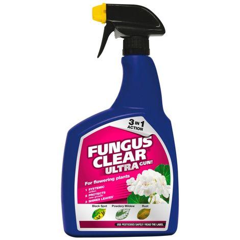 Fungus Clear Ultra Garden Fungicide for Powdery Mildew Black Spot - 1L Spray