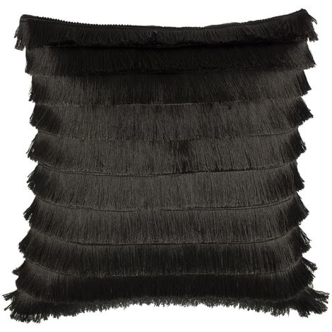 Furn Flicker Tiered Fringe Cushion Cover