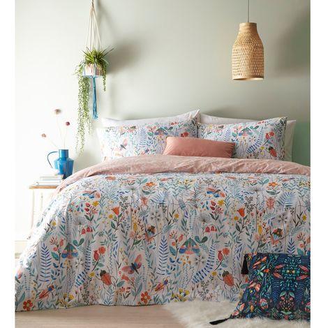 Furn Mini Nature Duvet and Pillowcase Set (Single) (Multicoloured)