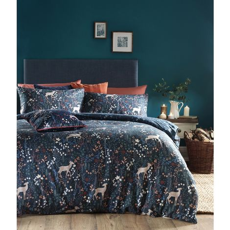 Furn Richmond Duvet Cover Set With Woodland And Botanical Design