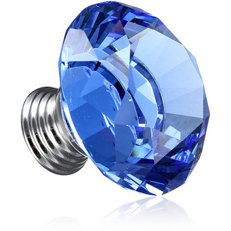 Furniture Handle Crystal Glass Blue Cabinet Knob