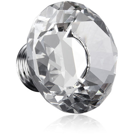 Furniture Handle Crystal Glass Transparent Cabinet Knob