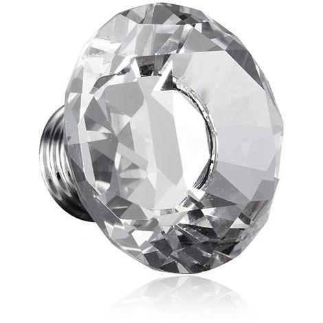 Furniture Handle Crystal Glass Transparent Cabinet Knob Hasaki