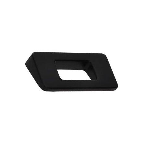 Furniture handle SIRO Zamak - 86 x 68 mm - Black matt
