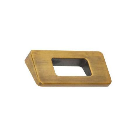 Furniture handle SIRO Zamak - 86 x 68 mm - Brushed black brass