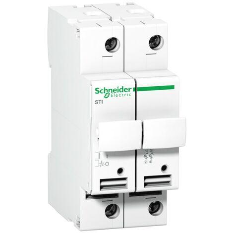 Fusible de Schneider 2P 32A 10,3X38 2 módulos A9N15651