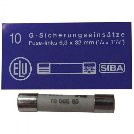 Fusible Microondas Estandard 6,3x32mm 16A Caja 10Unid. Ceramico