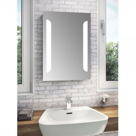 Fusion LED Illuminated Mirror With Demister, Shaving Socket & Touch Sensor 500mm x 700mm