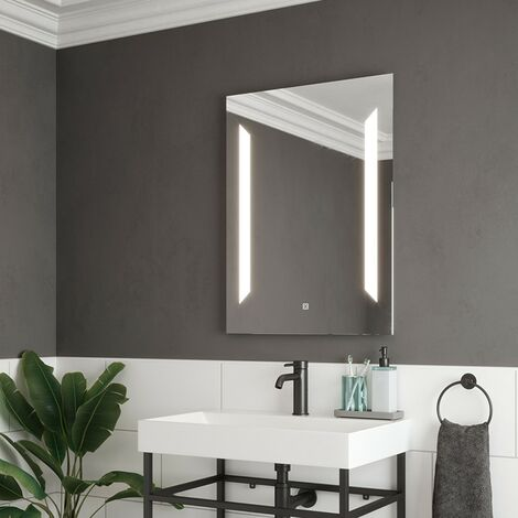 Fusion LED Illuminated Mirror with Demister & Touch Sensor 600mm x 800mm