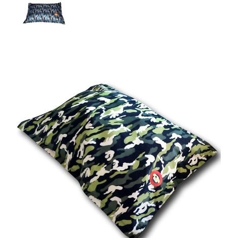 Fuss-Outdoor rectangular padded camouflage cushion for dogs and cats in different sizes Ferribiella