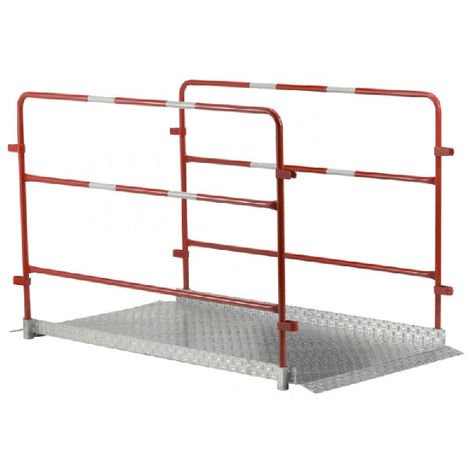 Fußgängerbrücke mit Geländer (in verschiedenen Größen erhältlich)