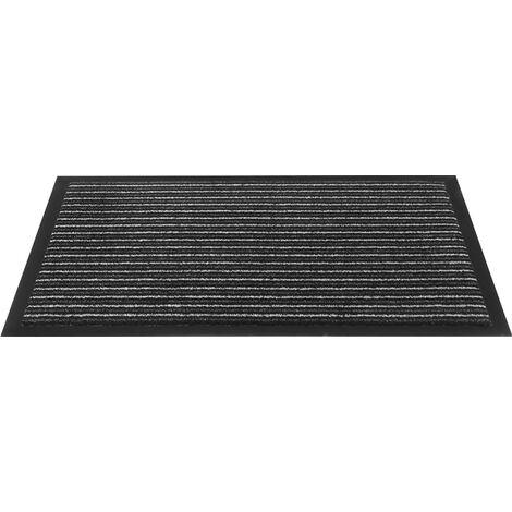 Fußmatte gestreift anthrazit PP L400xB600xS5mm