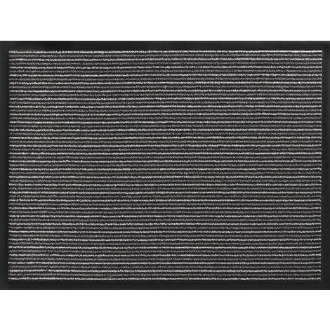 Fußmatte gestreift anthrazit PP L800xB1200xS5mm