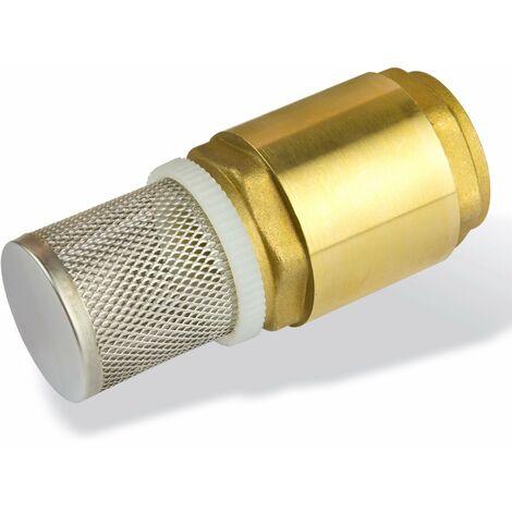 Fußventil DN25 1 Zoll Messing Saugfilter Saugkorb für Saugschlauch Saugleitung