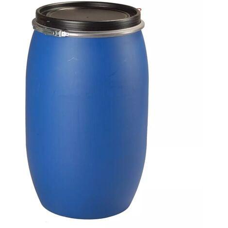Fut / Bidon 120 litres bleu à ouverture totale
