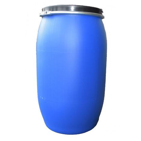 Fut / Bidon 220 litres bleu à ouverture totale