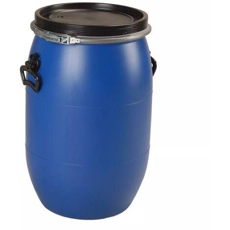 Fut / Bidon 60 litres bleu à ouverture totale