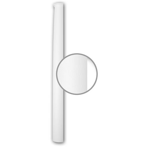 Fût de demi-colonne 116020 Profhome Colonne Élement décorative style Néo-Classicisme blanc