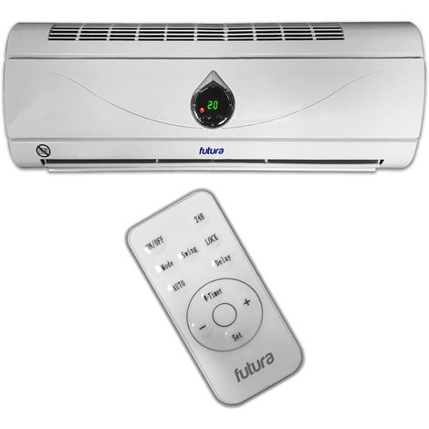 FUTURA 2KW 2000W Deluxe Over Door Heater Fan Air Curtain Week Timer & Remote, Cooling Fan, Ideal for Home, Office & Commercial Premises