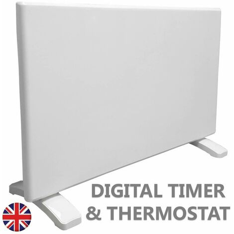 Futura Eco 1000W Electric Panel Electric Heater Bathroom Safe Setback Timer Lot 20 & Advanced Thermostat Control Wall Mounted or Floor Standing Low Energy Electric Heater