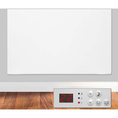 Futura Eco 1200W Electric Panel Electric Heater Bathroom Safe Setback Timer Lot 20 & Advanced Thermostat Control Wall Mounted or Floor Standing Low Energy Electric Heater