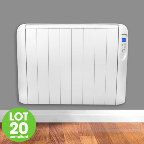 FUTURA Eco Panel Heater 24 Hour 7 Day Timer 2000W Wall Mounted Lot 20 Low Energy Electric Heater