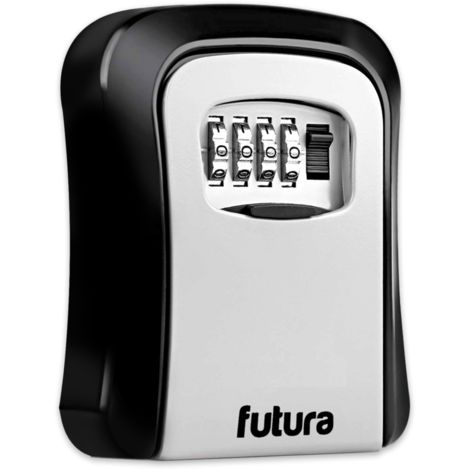 Futura Key Safe Wall Mounted Lock Box - Spare Key Storage - Suitable for Outdoor Use - 4 Digit Combination Protected