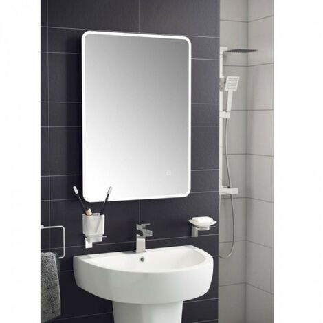Futura LED Illuminated Universal Mirror With Demister & Touch Sensor 500mm x 700mm