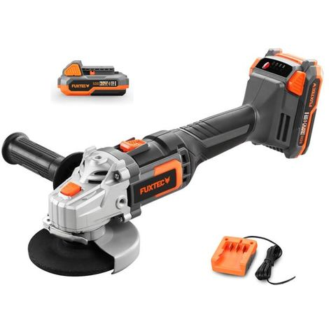 FUXTEC 20V cordless angle grinder - Kit FX-E1WS20 incl. battery (2Ah) and charger (1A)