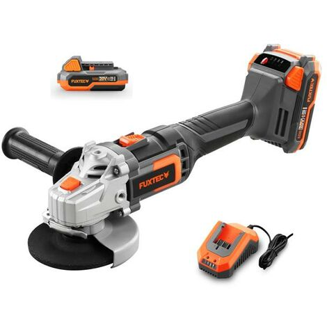 FUXTEC 20V cordless angle grinder - Kit FX-E1WS20 incl. battery (2Ah) and charger (2.4A)