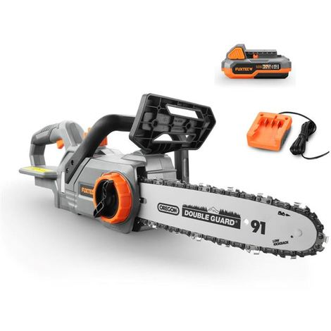FUXTEC 20V cordless chainsaw - Kit FX-E1KS20 incl. battery (2Ah) and charger (1A)