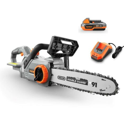 FUXTEC 20V cordless chainsaw - Kit FX-E1KS20 incl. battery (2Ah) and charger (2.4A)